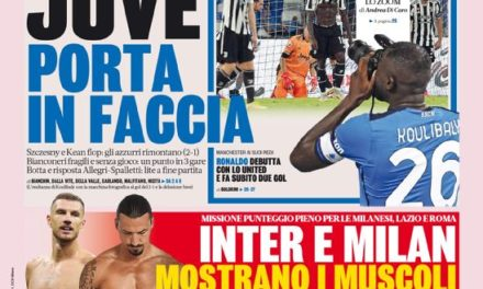 Today's Papers – Juventus howlers, Milan host Lazio