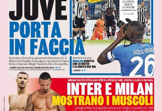 Documentos de hoy - Juventus aulladores, Milán recibe a Lazio