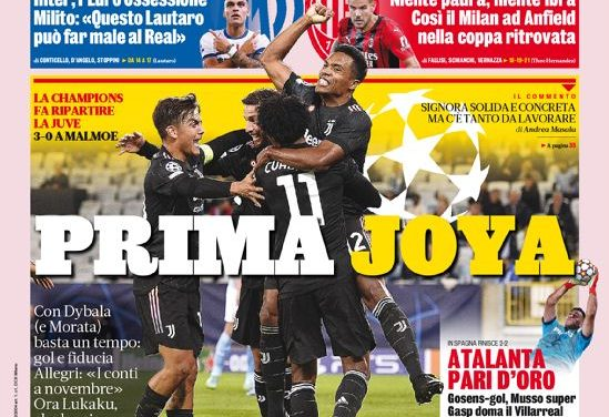 Today's Papers – This is Juve, Iron Atalanta