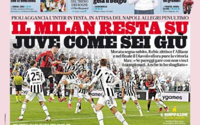 Today's Papers – Milan spark Juve crisis, Roma fall
