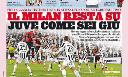 Documentos de hoy - Milán provoca crisis en la Juve, caída de la Roma