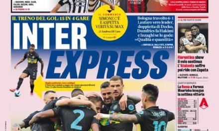 Today's Papers – Inter Express, Juve-Milan goosebumps