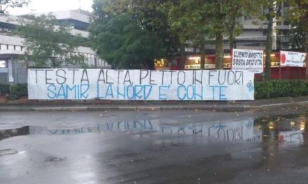 Watch: Inter ultras unveil banner supporting Handanovic