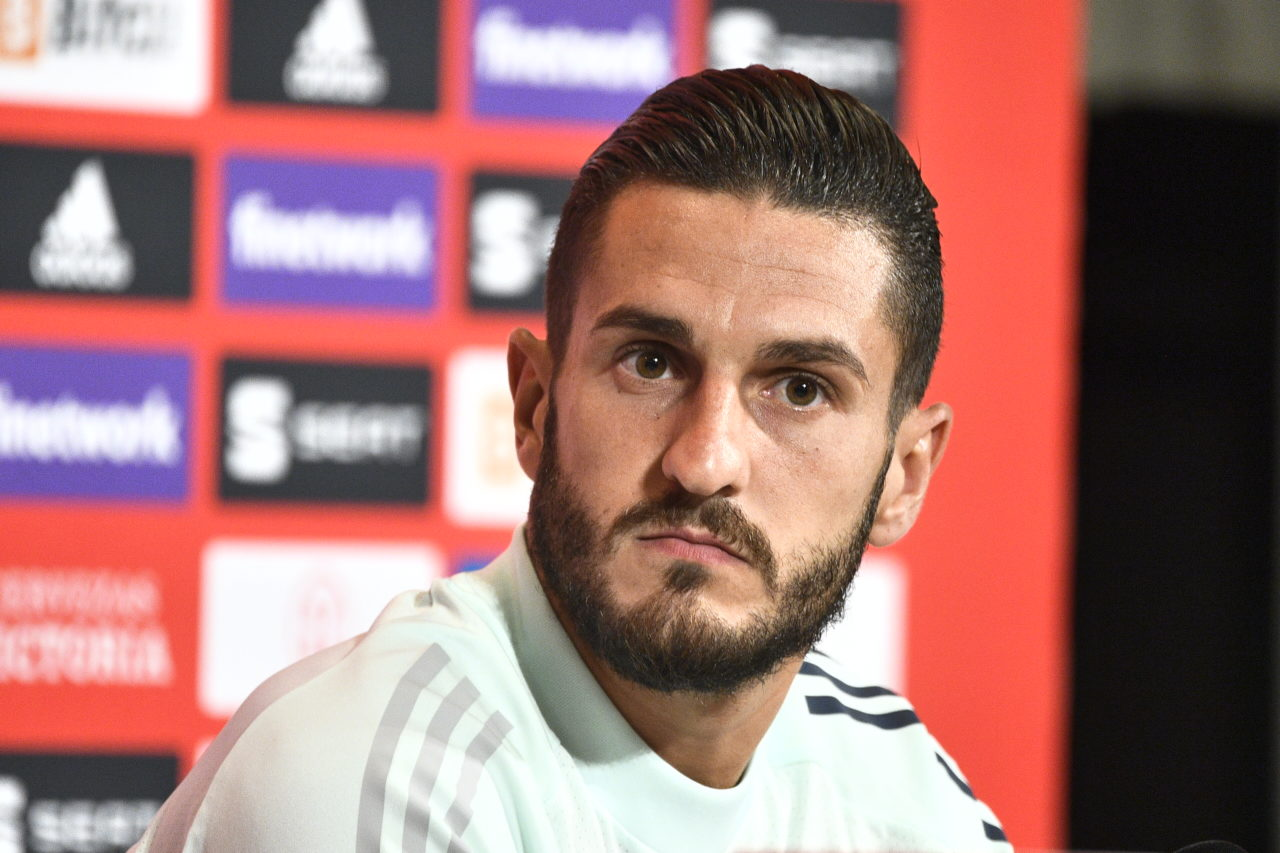 epa09440961 Spain's player Koke during a press conference at Friends Arena in Stockholm, Sweden, 01 September 2021. Spain will face Sweden in their FIFA World Cup 2022 qualifying soccer match on 02 September 2022. EPA-EFE/Claudio Bresciani / TT SWEDEN OUT