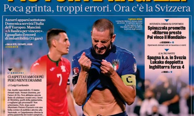 Today's Papers – Italy's disappointing draw