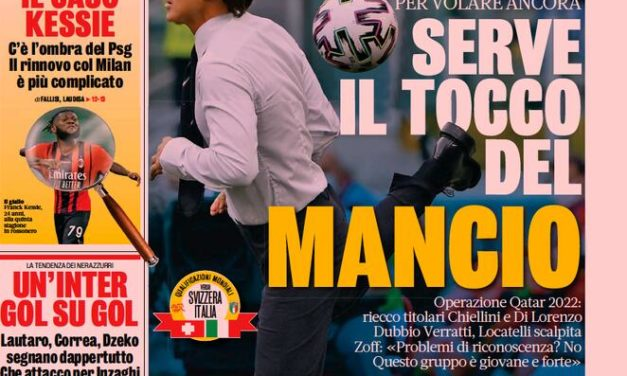 Today's Papers – Mancini makes changes
