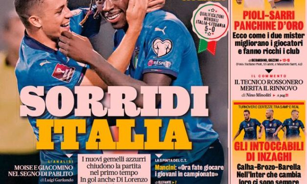 Today's Papers – Raspadori and Kean, Italy's twins