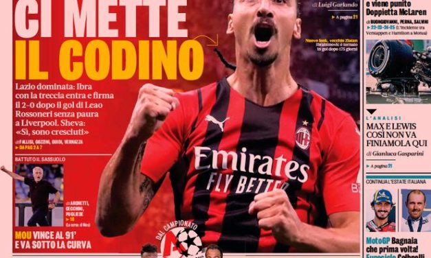 Today's Papers – Milan dominate Lazio, three runaway leaders