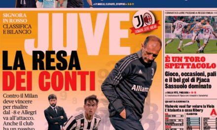 Documentos de hoy - Juve vs.Milán, el enfrentamiento