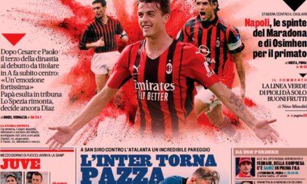 Today's Papers – Maldini's dynasty, thrilling Inter-Atalanta