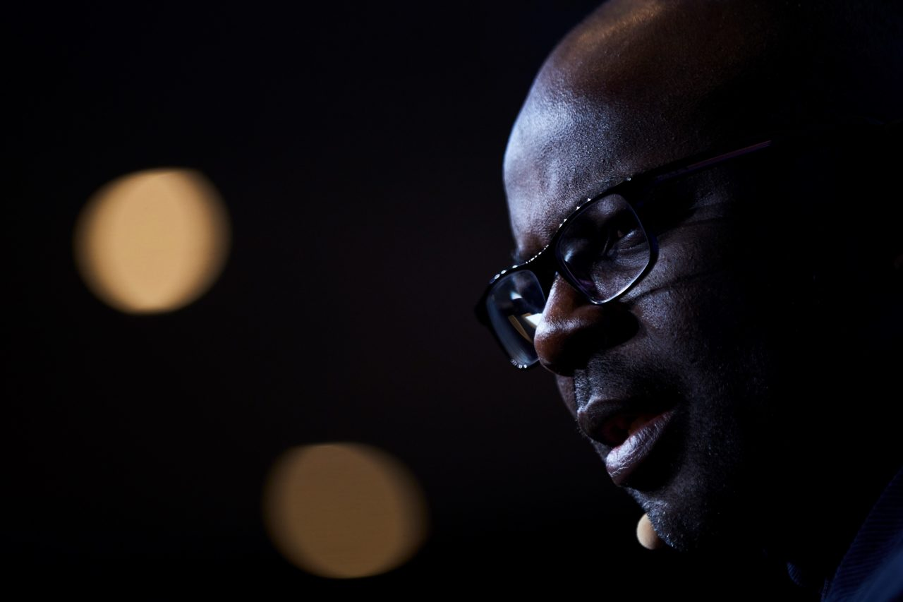 epa07468856 French former soccer player Lilian Thuram speaks during the presentation of the initiative 'Getting into the Game' in Barcelona, Spain, 28 March 2019. 'Getting into the Game' was launched in 2017 by FC Barcelona Foundation and Unicef to analyse the key factors of sports activities to optimize the impact of them in the life of children and youngsters. EPA-EFE/ALEJANDRO GARCIA