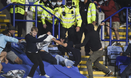 'Disgraceful behaviour': dozens arrests after clashes between Napoli and Leicester City fans