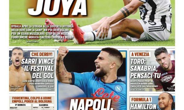Today's Papers – No Joya, Napoli joy of 6