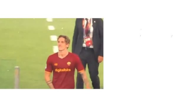 Video: Zaniolo hits back at Lazio fans with rude gestures
