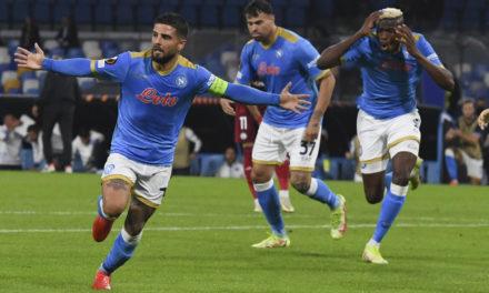 Europa League | Napoli 3-0 Legia Warsaw: Insigne and Osimhen inspire