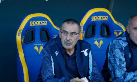 Lazio: Lotito defends Sarri after Verona defeat and argument with Luis Alberto