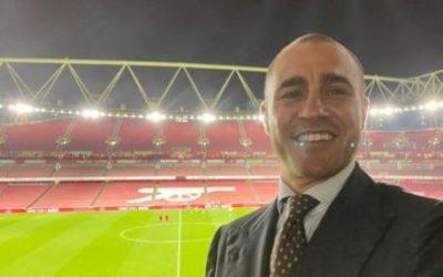 Cannavaro in London to watch Arsenal