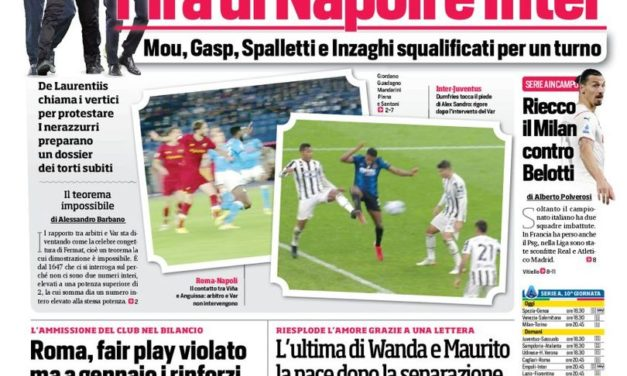 Today's Papers – Milan deals, Inter and Napoli protest VAR