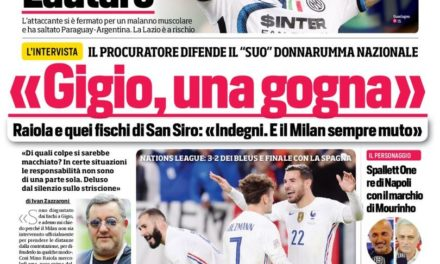 Today's Papers – Pioli Scudetto ambition, Raiola defends Donnarumma