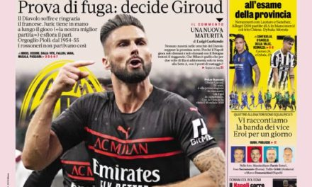 Today's Papers – Milan runaways, Inter and Juve relaunch