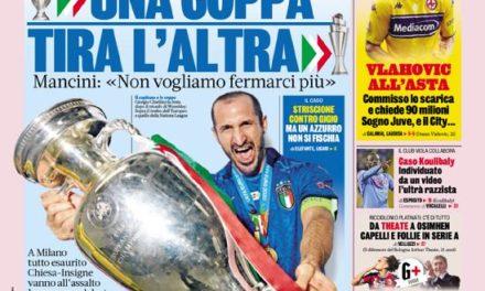 Documentos de hoy: Italia lo vuelve a hacer, Vlahovic hace una oferta de guerra