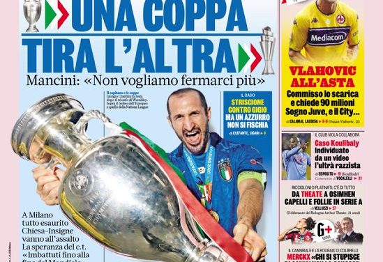 Today's Papers – Italy do it again, Vlahovic bidding war