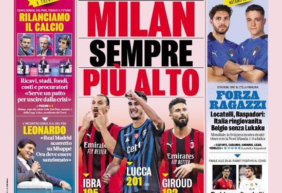 Today's Papers – Raspadori, Chiesa and Berardi against Belgium
