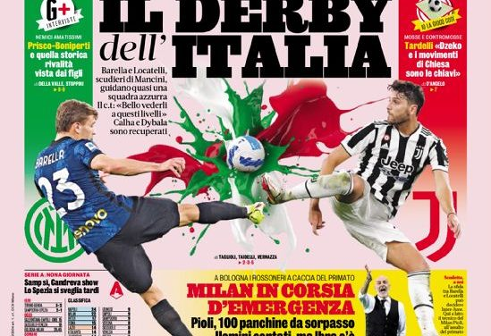 Today's Papers – Mourinho shows no mercy, Calha and Dybala for the Derby d'Italia