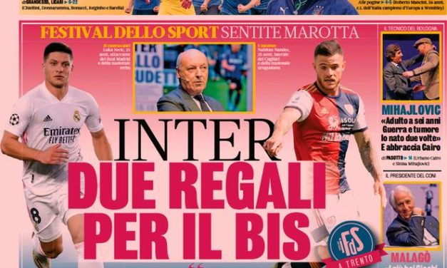 Today's Papers – Inter prepare two January signings, five Azzurri for the Ballon d'Or